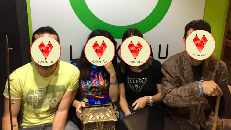 Equipo de Capitan Fox haciendo Room Escape
