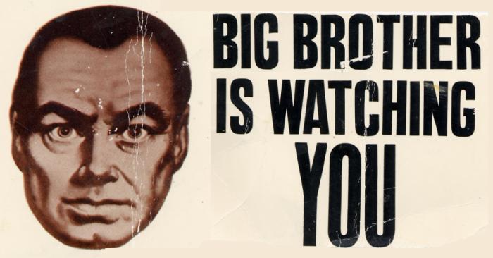 'Big Brother is watching you' hace referencia a la famosa obra de George Orwell, que describe una sociedad distópica donde la humanidad es controlada a través de la información y la tecnología