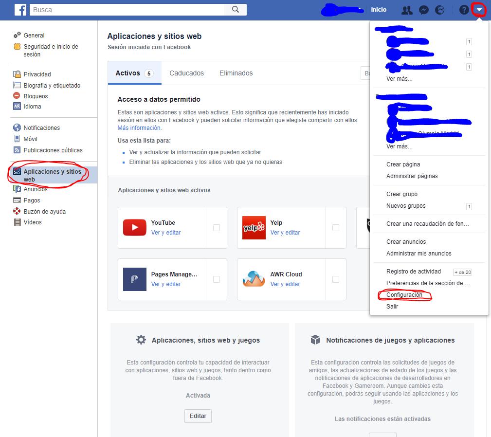 Cómo eliminar permisos de apps en el perfil de Facebook
