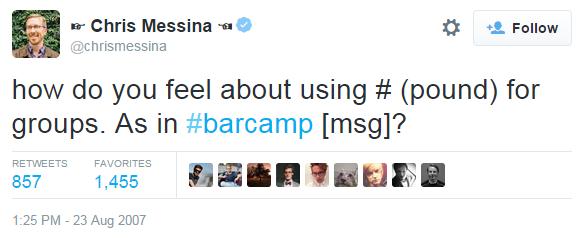 primer hashtag twitter